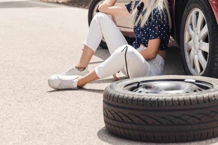O pneu furado